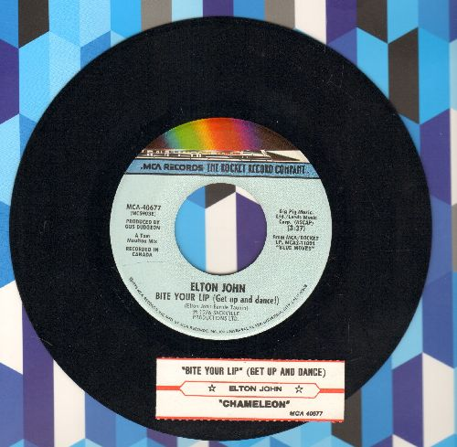 John, Elton - Bite Your Lip (Get Up And Dance!)/Chameleon (with juke box label) - NM9/ - 45 rpm Records