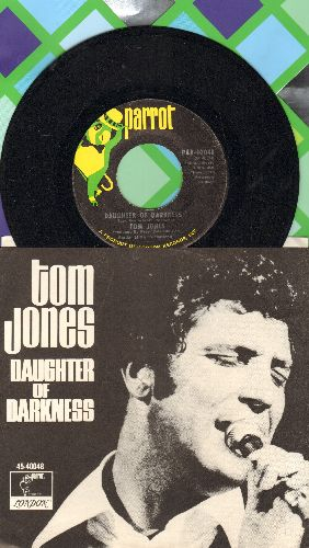 Jones, Tom - Daughters Of Darkness/Tupelo Mississippi Flash (with picture sleeve) - NM9/NM9 - 45 rpm Records