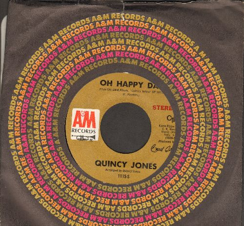Jones, Quincy - Oh Happy Day/Love And Peace (with A&M company sleeve) - NM9/ - 45 rpm Records