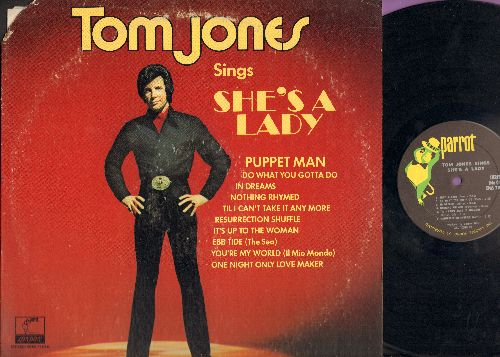 Jones, Tom - She's A Lady: In Dreams, Resurrection Shuffle, Puppet Man, Ebb Tide, You're My World (Vinyl STEREO LP record) - EX8/VG6 - LP Records