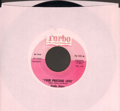 Jones, Linda - Your Precious Love/Don't Go (I Can't Bear To Be Alone) - NM9/ - 45 rpm Records