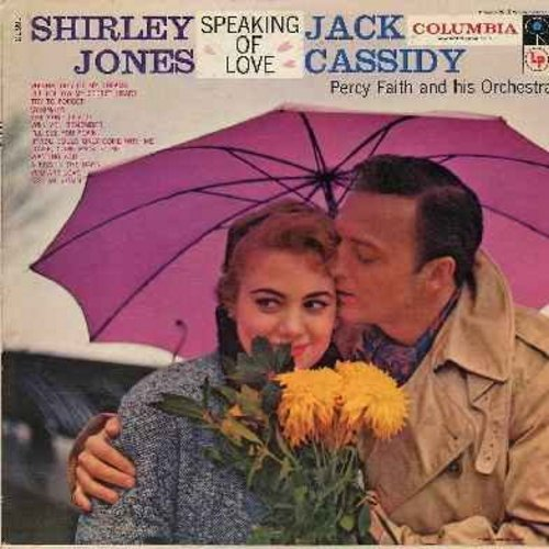 Jones, Shirley & Jack Cassidy - Speaking Of Love: Vienna My City Of Dreams, Will You Remember, The Song Is You, Kiss Me Again, I'll Follow My Secret Heart (Vinyl mono LP record, red label with 6 white Columbia eyes) - EX8/VG7 - LP Records