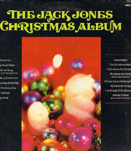 Jones, Jack - The Jack Jones Christmas Album: White Christmas, Sleigh Ride, My Favorite Things, I'll Be Home For Christmas (Vinyl LP record, re-issue of vintage recordings) - NM9/NM9 - LP Records