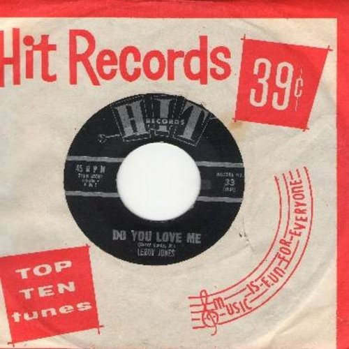 Jones, Leroy - Do You Love Me/Only Love Can Break A Heart (by Ed Hardin on flip-side - contemporary cover versions of hits, with RARE Hit company sleeve) - NM9/ - 45 rpm Records