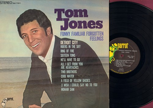 Jones, Tom - Funny Familiar Forgotten Feelings: Riders In The Sky, Rng Of Fire, Sixteen Tons, He'll Have To Go, Cool Water (Vinyl STEREO LP record, NICE condition!) - NM9/NM9 - LP Records