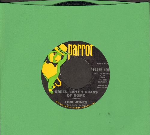 Jones, Tom - Green, Green, Grass Of Home/If I Had You (MINT condition!) - VG7/ - 45 rpm Records