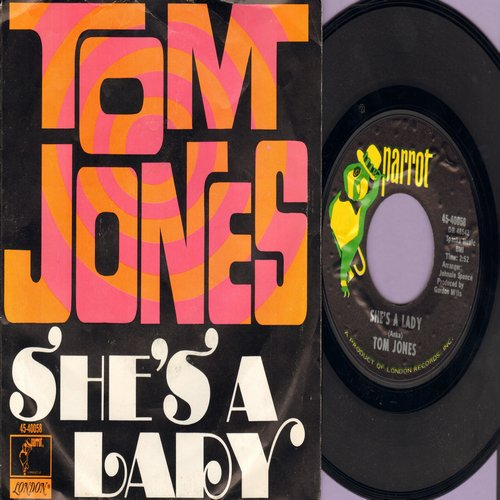 Jones, Tom - She's A Lady/My Way (with picture sleeve) - NM9/EX8 - 45 rpm Records