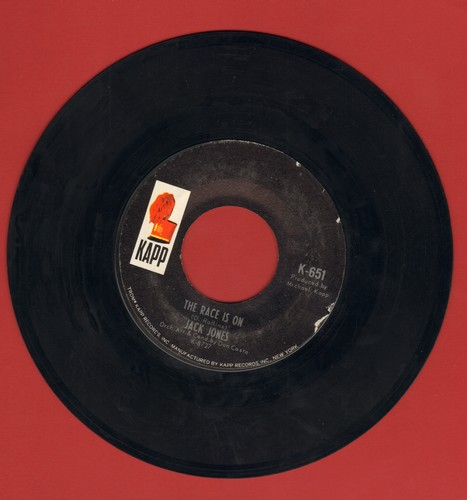 Jones, Jack - The Race Is On/I Can't Believe I'm Losing You - VG6/ - 45 rpm Records