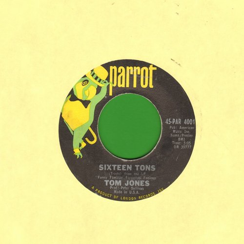 Jones, Tom - Sixteen Tons/Things I Wanna Do - NM9/ - 45 rpm Records