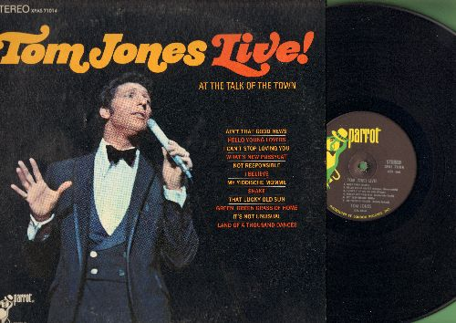 Jones, Tom - LIVE! At The Talk Of The Town: Shake, It's Not Un usual, Green Green Grass Of Home, What's New Pussycat? (Vinyl STEREO LP record) - NM9/EX8 - LP Records