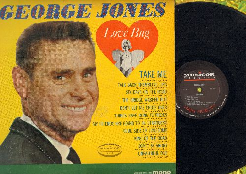 Jones, George - Love Bug: Take Me, King Of The Road, Don't Be Angry, Talk Back Trembling Lips (Vinyl MONO LP record) - VG7/VG7 - LP Records