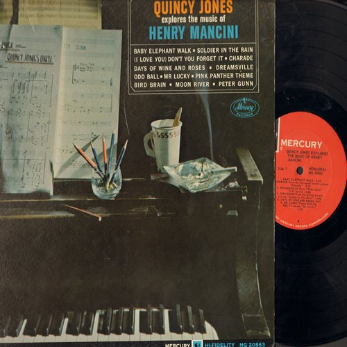 Jones, Quincy - Quincy Jones Explores The Music Of Henry Mancini: Baby Elephant Walk, The Pink Panther, Peter Gunn, Moon River (Vinyl MONO LP record) - EX8/EX8 - LP Records