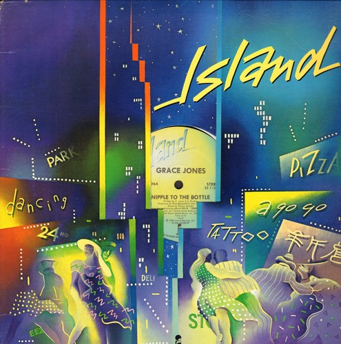Jones, Grace - Nipple To The Bottle (6:57 minutes Extended Disco Mix)/Ja Guys (7:15 minutes Dub Version of My Jamaican Guy) (12 inch vinyl Maxi Single with Island company cover) - NM9/ - 45 rpm Records