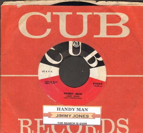 Jones, Jimmy - Handy Man/The Search Is Over (with juke box label and vintage CUB company sleeve) - EX8/ - 45 rpm Records