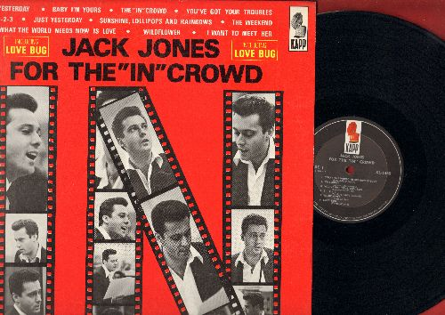 Jones, Jack - For The In Crowd: Love Bug, Yesterday, Baby I'm Yours, 1-2-3, Sunshine, Lollipops And Rainbows (vinyl MONO LP record) - NM9/NM9 - LP Records