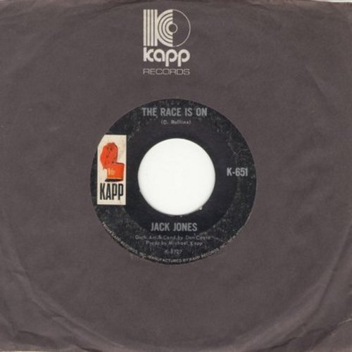 Jones, Jack - The Race Is On/I Can't Believe I'm Losing You - EX8/ - 45 rpm Records