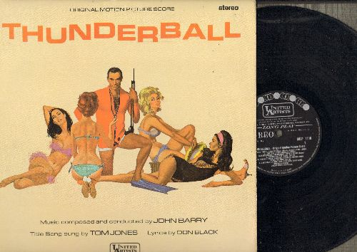 Barry, John - Thunderball - Original Motion Picture Sound Track arranged and conducted by John Barry featuring Title Song by Tom Jones (Vinyl STEREO LP record, British Pressing) - M10/EX8 - LP Records