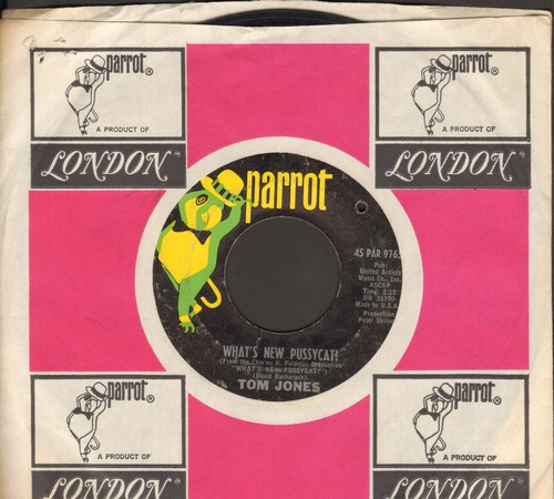 Jones, Tom - What's New Pussycat?/Once Upon A Time (with compny sleeve) (bb) - NM9/ - 45 rpm Records