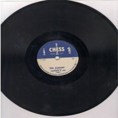 Johnnie & Joe - Feel Alright/I'll Be Spinning (10 inch 78rpm record, NICE condition!) - NM9/ - 78 rpm