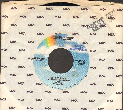John, Elton - Crocodile Rock/Elderberry Wine - EX8/ - 45 rpm Records