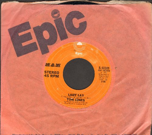 Jones, Tom - Lady Lay/Say You'll Stay Until Tomorrow - EX8/ - 45 rpm Records