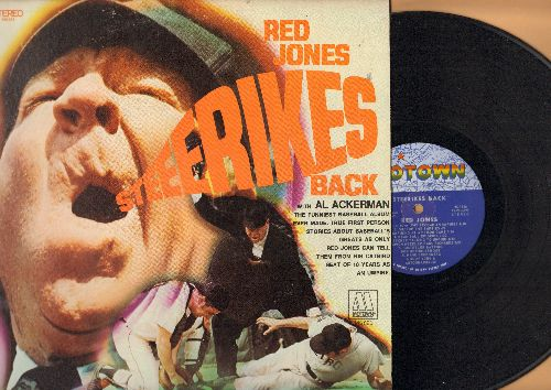 Jones, Red - Red Jones Steerikes Back - With Al Ackerman, the funniest Baseball album ever made (Vinyl STEREO LP record) - NM9/EX8 - LP Records