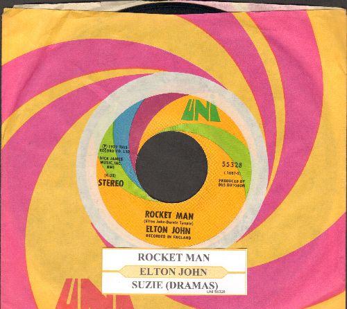 John, Elton - Rocket Man/Suzie (Dramas) (with juke box label and Uni company sleeve) - EX8/ - 45 rpm Records