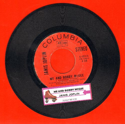 Joplin, Janis - Me And Bobby McGee/Half Moon (with juke box label) - EX8/ - 45 rpm Records