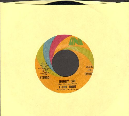John, Elton - Honky Cat/Slave - EX8/ - 45 rpm Records