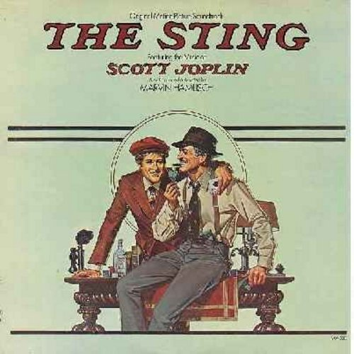 Hamlisch, Marvin - The Sting - Original Motion Picture Sound Track Featuring The Music Of Scott Joplin, Conducted and Adapted by Marvin Hamlisch. Includes the Top-10 Hit -The Entertainer- (Vinyl LP record) - EX8/VG7 - LP Records
