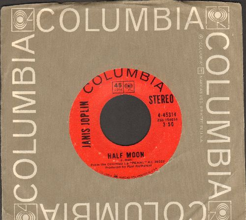 Joplin, Janis - Me And Bobby McGee/Half Moon (with Columbia company sleeve) - EX8/ - 45 rpm Records