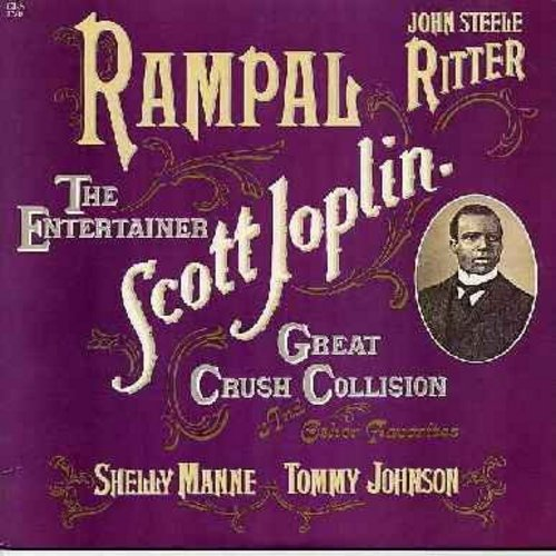 Rampal, Jean-Pierre - Jean-Pierre Rampal Plays Scott Joplin: Maple Leaf Rag, The Entertainer, Harmony Club Waltz, Combination March, The Cascades, Cleopha (Vinyl STEREO LP record, 1983 issue with liner notes in Englsih, German and French, NICE item!) - NM