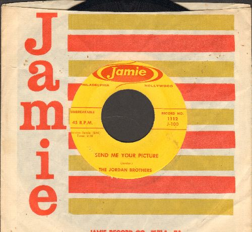 Jordan Brothers - Send Me Your Picture/Oh Lolly (RARE  vintage Doo-Wop 2-sider with Jamie company sleeve) - NM9/ - 45 rpm Records