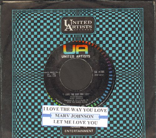 Johnson, Marv - I Love The Way You Love/Let Me Love You (with juke box label and United Artists company sleeves) - NM9/ - 45 rpm Records