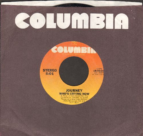 Journey - Who's Crying Now/Mother, Father (with Columbia company sleeve) - NM9/ - 45 rpm Records
