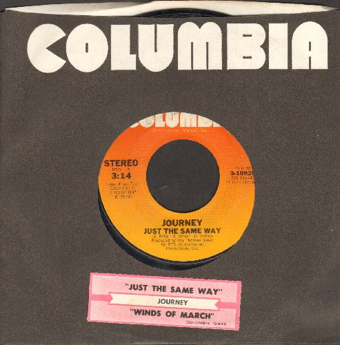 Journey - Just The Same Way/Winds Of March (with juke box label and Columbia company sleeve) - VG7/ - 45 rpm Records