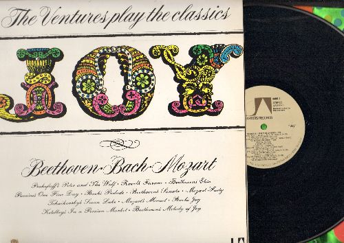 Ventures - Joy - Beethoven, Bach Mozart: Swan Lake, Peter & The Wolf, Fur Elise, In A Persian Market (vinyl STEREO LP record) - M10/EX8 - LP Records