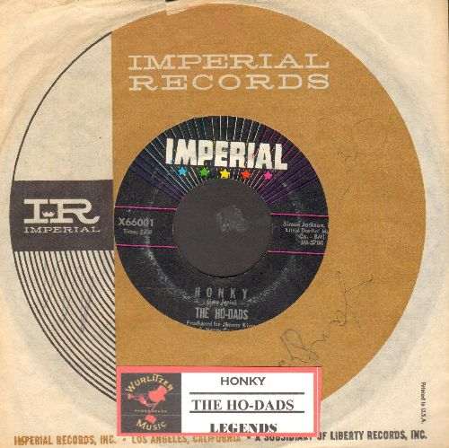 Ho-Dads - Honky/Legends (RARE Vintage Rock Instrumental with Imperial company sleeve and juke box label) - EX8/ - 45 rpm Records