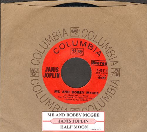 Joplin, Janis - Me And Bobby McGee/Half Moon (with juke box label and company sleeve) - NM9/ - 45 rpm Records