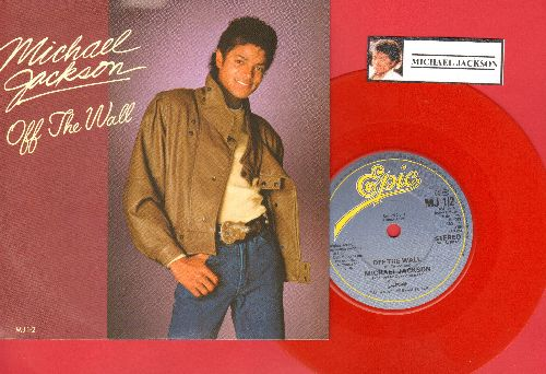 Jackson, Michael - Off The Wall/Working Day And Night (RED VINYL British Pressing with small spindle hole, with picture sleeve) - EX8/NM9 - 45 rpm Records