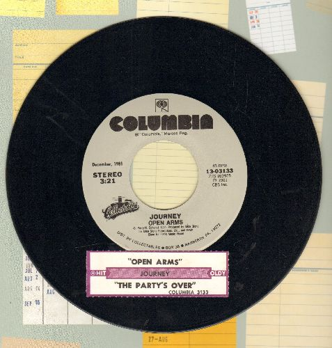 Journey - Open Arms/The Party's Over (double-hit re-issue with juke box label) - EX8/ - 45 rpm Records