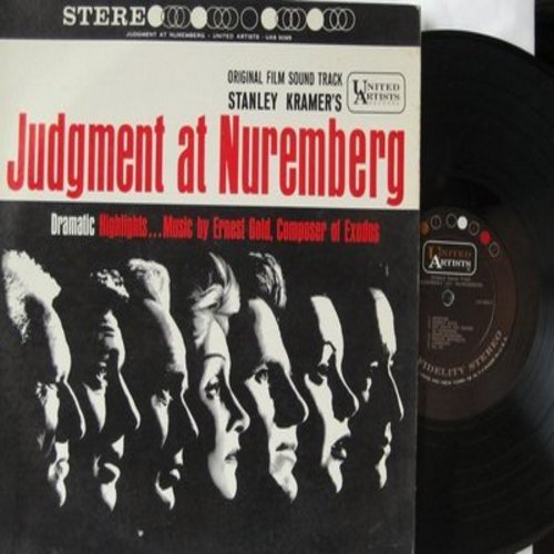 Gold, Ernest - Judgement at Nuremberg - Original Film Sound Track, dramatic highlights, music by Ernest Gold, composer of Exodus (vinyl STEREO LP record) - EX8/VG7 - LP Records