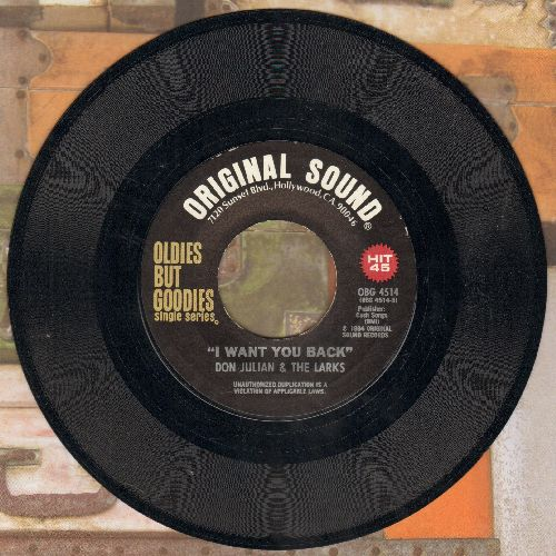 Julian, Don & The Larks - I Want You Back/Soldier Boy (by The Shirelles on flip-side) - NM9/ - 45 rpm Records