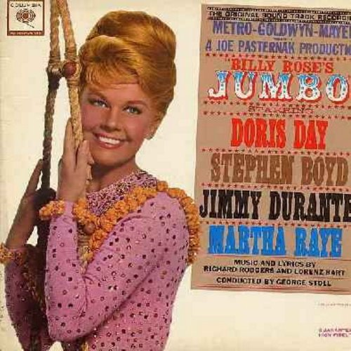 Day, Doris, Jimmy Durante, Martha Raye - Jumbo: Original Motion Picture Sound Track (Vinyl MONO LP record, gate-fold cover) - EX8/EX8 - LP Records