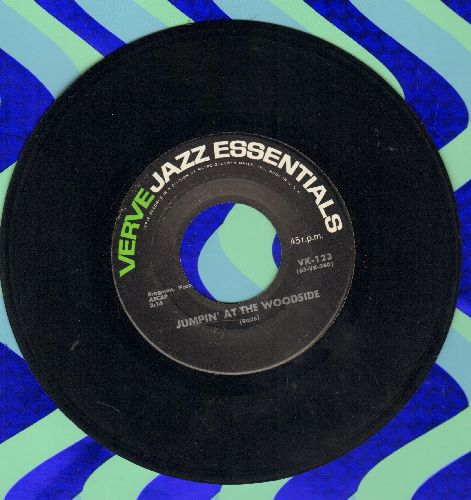 Basie, Count & His Orchestra - Jumpin' At The Woodside/Shiny Stockings (early double-hit re-issue) - EX8/ - 45 rpm Records