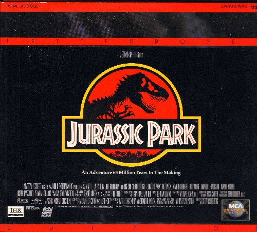 Jurassic Park - Jurassic Park - LASER DISC Version of the Sci-Fi Classic, Letterbox Format on 2 Discs in gate-fold cover. (THESE ARE LASER DISCS, NOT ANY OTHER KIND OF MEDIA!) - M10/EX8 - Laser Discs
