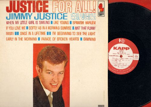 Justice, Jimmy - Justice For All!: When My Little Girl Is Smiling, Ain't That Funny, Spanish Harlem, Parade Of Broken Hearts, Once In A Lifetime (Vinyl MONO LP record, DJ advance pressing) - NM9/EX8 - LP Records