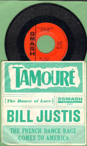 Justis, Bill & His Orchestra - Tamoure (The Dance Of Love)/I'm Gonna Learn To Dance (with picture sleeve) - NM9/EX8 - 45 rpm Records