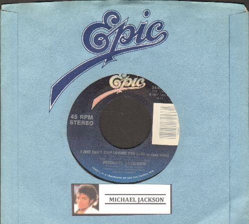 Jackson, Michael - I Just Can't Stop Loving You/Baby Be Mine (with company sleeve) - VG7/ - 45 rpm Records