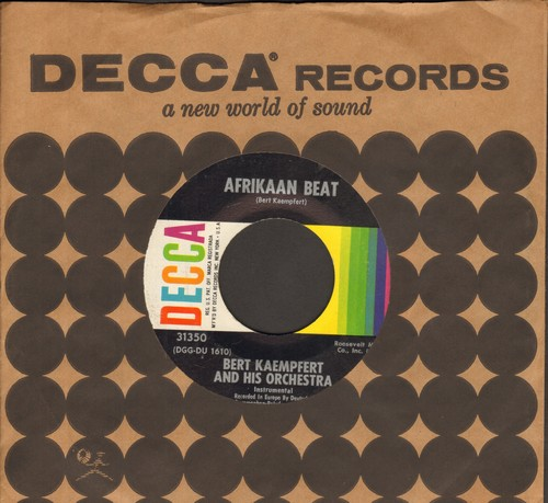 Kaempfert, Bert & His Orchestra - Afrikaan Beat/Echo In The Night (with vintage Decca company sleeve) - EX8/ - 45 rpm Records